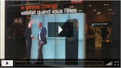 www.tav.fr - Cette semaine, notre équipe nous a rapporté de Lille un reportage  vidéo de l' installation  d'écran dans la vitrine d'un magasin OrangeI.