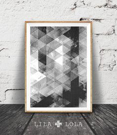 Geometric Print, Black and White Geometric Wall Art, Geometric Pattern, Abstract Print, Geometric Pattern Abstract Design, Monochrome Design