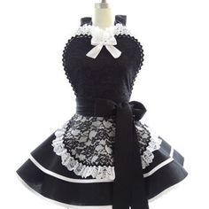 Retro Apron - French Maid Sexy Womans from bambinoamore on Etsy