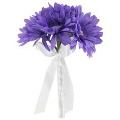 His & Hers Purple Gerbera Daisy Bouquet with Brooch   Shop Hobby Lobby