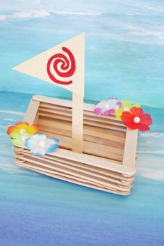 Learn How to Make a Wonderful Moana Canoe Craft! Moana Boat, Moana Theme Birthday, Birthday Party Themes, Craft Stick Crafts, Crafts For Kids, Paper Crafts, Craft Art, Disney Princess Crafts, Baby Party