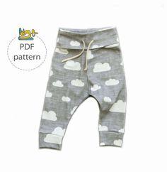 Baby pants sewing pattern jogger pants pattern baby leggings