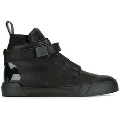 Giuseppe Zanotti Design 'The Shark 6.0' hi-top sneakers (2.033.085 COP) ❤ liked on Polyvore featuring men's fashion, men's shoes, men's sneakers, black, shoes, mens black shoes, mens flat shoes, mens high top sneakers, mens black hi top sneakers and mens black high top sneakers