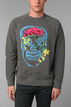 Junk Food Flower Skull Sweatshirt