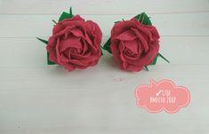 #розы #розыизфоамирана #резинкидляволос #аксессуарыдляволос #фоамиран Gifts For Girls, Rose, Flowers, Plants, Pink, Plant, Roses, Royal Icing Flowers, Flower