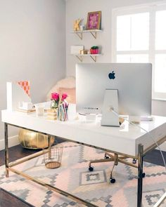So glam so pink so haute right now. Love @fancythingsblog's office as much as we do? Like it to vote! The pic with the most votes will be recreated for less!  #CopyCatChic