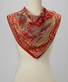 Another great find on #zulily! Red Gold Fleck Paisley Scarf by Raj Imports #zulilyfinds