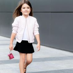 As if she just stepped off the #catwalk #furla #bomberjacket