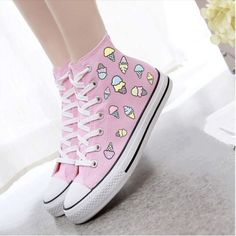 ice cream converse| discount: okaywowcool  kawaii fairy kei pastel pastel grunge pastel goth fachin converse sneakers shoes flats storenvy discount