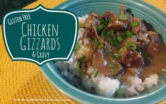 I love tender and juicy chicken gizzards! These are gluten and dairy free, in an amazing gravy served over rice!
