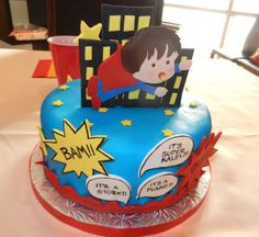 Superhero baby shower cake! #cake #babyshower #superhero