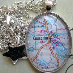 Tilaustyönä #karttakoru #Kuusamo <3