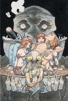 Lucifer Cover, in Alex Hutchinson's Comic Art! Vertigo Comics, Michael Williams, Comic Art Community, Comic Kunst, Art And Illustration, Illustrations, Book Of Shadows, Screen Printing, Art Gallery
