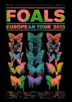 FOALS // Tour Dates in Graphic Design