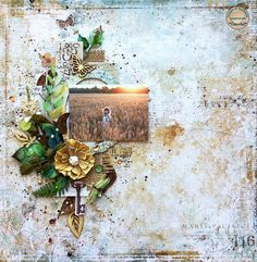 Scraps of Darkness scrapbook kits mixed media tutorial, with Blue Fern Studios Wanderlust from our July kit, by Tatiana Yemelyanenko. Mixed Media Scrapbooking, Scrapbooking Layouts, Diy Scrapbook, Scrapbook Pages, Club Design, 2017 Design, Mixed Media Tutorials, Layout Inspiration, Paper Crafts