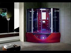 Valencia Steam Shower Sauna With Jacuzzi Whirlpool Massage Bathtub - Modern - Steam Showers - by maya bath