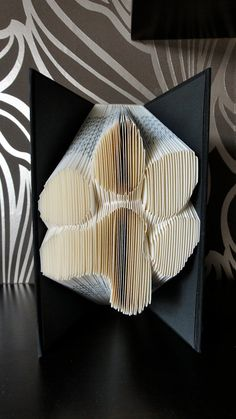 Folded Book Art - Dog Paw - Unique present