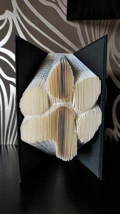 Folded Book Art - Dog Paw - Unique present