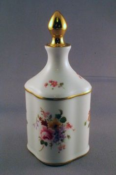 Very Unusual Royal Crown Derby Derby Posies Scent Bottle Perfect | eBay