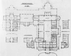 Villa Hugel - Ground floor plan (grundriss)
