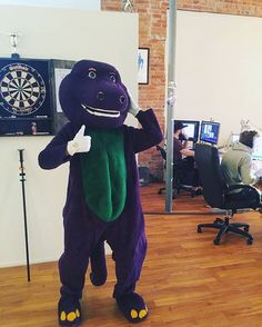 Blarney visited the studio last week to teach us about firearm safety.    #barneyandfriends #barney #blarney #blarneycastle #gunsafety #msl #mslgroup : @msl_studios_detroit