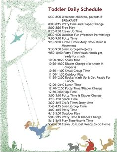 Another toddler schedule. I'm swiping these from daycares... - check it out!!!