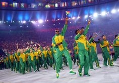 South Africa's athletes. REUTERS/Kai Pfaffenbach