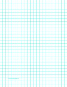 This LetterSized Graph Paper Has One Aqua Blue Line Every Inch