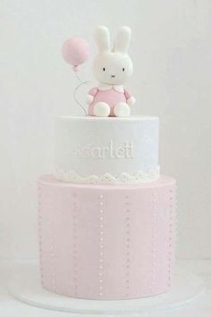 Cute Bunny  Balloon Birthday Cake