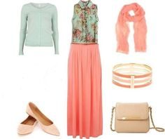 Mint and peach... Cool
