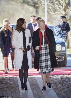 La reine Margrethe et la princesse Mary