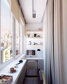 """534 Likes, 6 Comments - CHIQUE DECOR - Arquitetura (@chiquedecor) on Instagram: """"E esse aproveitamento de espaço na varanda??? Que lindo!!!! Queria um desse pra mim!!! Autoria…"""""""