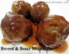 Sweet & Sour Meatballs Recipe | Fabulessly Frugal: A Coupon Blog sharing Amazon Deals, Printable Coupons, DIY, How to Extreme Coupon, and Make Ahead Meals