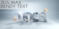 """In this tutorial from """"Johannes Tiner """" learn how you can bend some text using the FFD modifier.  Read more: http://www.cgmotionbox.com/2013/11/create-bendy-bling-text-3ds-max-2014/#ixzz2jnpznOoi"""