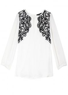 Tibi  Evelyn Baroque Lace Print Silk Blouse