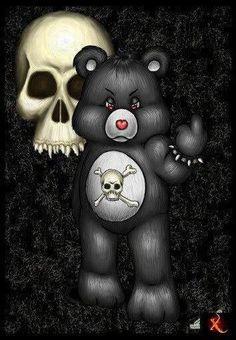 Too cute skull care bear