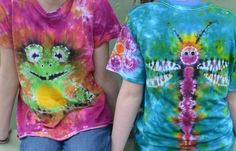 Picture of Double Sided Tie Dye:  Frog & Dragonfly