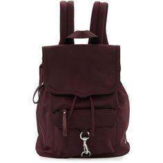 Rebecca Minkoff Nylon Drawstring Biker Backpack ($93) ❤ liked on Polyvore featuring bags, backpacks, port, draw string backpack, nylon drawstring backpack, drawstring bags, drawstring knapsack and draw string bag