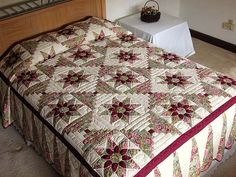 Dahlia Log Cabin Quilt -- superb carefully made Amish Quilts from Lancaster (hs1172)