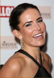 Sophie Anderton wearing our Gold and diamond drop earrings
