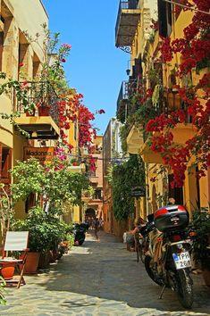 Beautiful alley, Chania, Crete, Greece