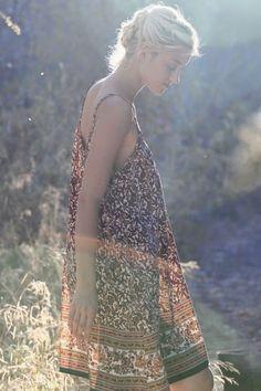Summer bohemian sundress inspiration.