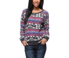 Aztec pattern sweater at Zumiez