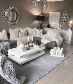 29  Ideas Inspiradoras para Decoración de Salas Modernas (2019) Living Room Goals, Living Room Decor Cozy, Formal Living Rooms, Home Living Room, Apartment Living, Living Room Designs, Bedroom Decor, Apartment Ideas, Contemporary Living Room Decor Ideas