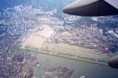The World's Famous Airport - Kai Tak Airport, Hong Kong Tango, Kai Tak Airport, Edwardian Architecture, British Hong Kong, Cathay Pacific, Walled City, Historical Pictures, Beautiful Buildings, International Airport