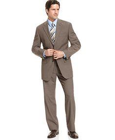 Lauren by Ralph Lauren Suit Navy Sharkskin Slim Fit - Suits - Men ...
