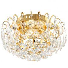 Toulouse złoty plafon kryształowy 370 - LampyTanie - 859,65 PLN