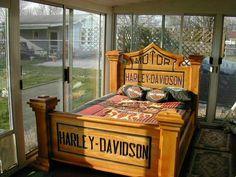 harley davidson bed  saweet!!