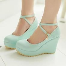 Colorful Shoes - Ankle-Strap Wedges