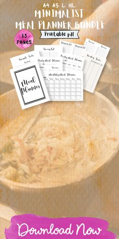 If you are looking for meal planning organization printables, this is the best planner for you! it includes a monthly meal planning printables, a weekly meal planner and the best grocery list to plan and achieve your health and fit weight loss diet. You´ll also receive Recipe cards and more printables to organizing the best recipes to try. Organize your meal planning ideas weekly or monthly with a healthy eating planner and meal tracking printables #mealplanning #familymealplanning… Healthy Eating Planner, Monthly Meal Planner, Family Meal Planning, Organizing, Organization, Meal Planning Printable, Menu Planners, Daily Meals, Meals For The Week